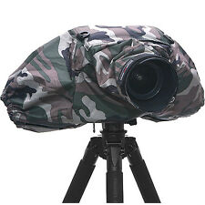 Camouflage Army PROTECT RAIN COVER DSLR Camera 300mm Long Lens Pouch Protect Bag