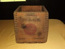 VINTAGE 38 S & W SMITH & WESSON REMINGTON UMC BLACK POWDER WOOD AMMUNITION  BOX