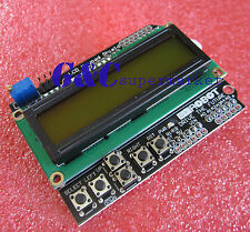 1602 LCD Board Keypad Shield Yellow Backlight For Arduino Duemilanove Robot M77