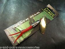 MAVER ARGENTO Slug Lure 22g GOLD BLADE Rosso in gomma