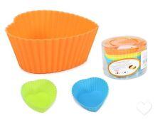 6X Molde en forma de corazón de silicona para hacer magdalena Cupcake Pastel