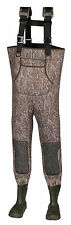 Men Titanium Mossy Oak Bottom Land Camo Neoprene Fishing/Hunting Wader Lug Sz 10