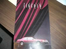 1990    Lincoln  Mark  VII   Sales   Catalog