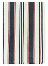"100% Cotton Navy Red & White Striped 20""x28"" Dish Towel, Set of 6 - Commodore"