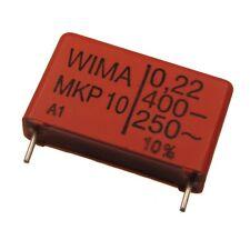 4 WIMA impulso fissa POLIPROPILENE CONDENSATORE mkp10 400v 0,22uf 22,5mm 089719