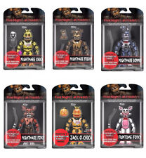 "Set of All 6 NIGHTMARE - 5 NIGHTS AT FREDDYS 6"" inch Figures 2017 JACK-O-CHICA+"
