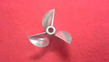 "CNC Aluminum propeller 4019 3 bladed 3/16"" shaft prop RC Boat"
