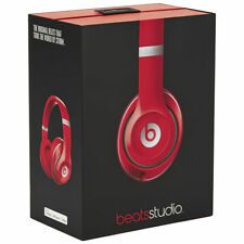 New Beats By Dr. Dre Studio 2.0 Wired Over-Ear Headband Headphones - Red