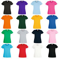 Fruit of the Loom Womens T Shirt Ladies Top Lady Fit Sizes XS S M L XL XXL