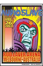 AUDIOSLAVE MELBOURNE 2003 POSTER  ONLY 500 not SOUNDGARDEN CORNELL cd viny shirt