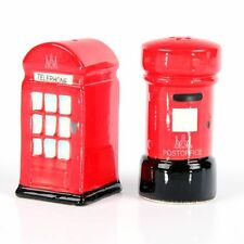 Ceramic Salt and Pepper Set-UK Telephone and Post Box London Great Britain Gift