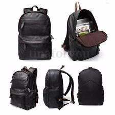 Mens Leather Hiking Backpack Rucksack Shoulder Bag Laptop Travel School Day Pack