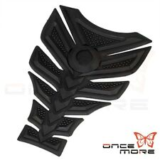 3D Six Llayer Rubber Fuel Gas Tank Pad Grip Protector For Motorcycle All Black