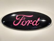 "2004-14  F-150 black pink logo ford  Oval Emblem,mint Part 9"" by 3.5,"