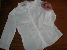New Condition.Womens Beautiful Light Cool 3/4 Sleeved White Voile Blouse.Size 12