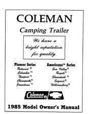 COLEMAN Popup Trailer Owners Manual-1985 Americana Sun Valley Royale Sequoia