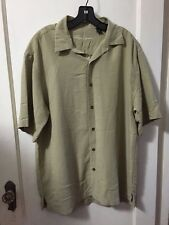 Reyn Spooner Hawaiian Camp L Large Button Down Polynosic Rayon Polyester Green