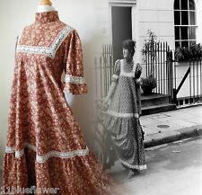 Laura Ashley Dress Vintage Rare Edwardian Victorian 70s 60s Boho 10 12 38 40 6 8
