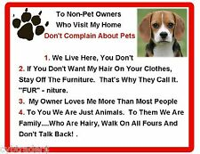 Funny Dog Beagle House Rules Refrigerator / Magnet Gift Card Insert