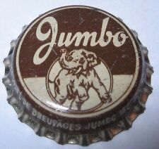 JUMBO SODA BOTTLE CAP; MONTREAL, QUE., CANADA; USED CORK  bull elephant graphic