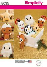 Simplicity SEWING PATTERN 8035 Stuffed Toys & Tree Ornaments
