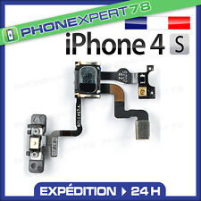 NAPPE DE BOUTON POWER ON/OFF CAPTEUR DE PROXIMITE ECOUTEUR ASSEMBLÉ IPHONE 4S