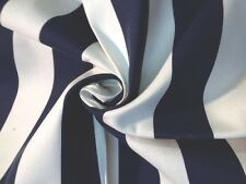 S04 Famous Maker White & Navy Blue Awning Tent Stripe Acrylic Outdoor Fabric