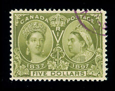 MOMEN: CANADA STAMPS #65 $5 JUBILEE USED VF
