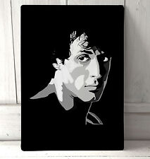 Rocky Balboa Stallone Portrait sign A4 metal plaque pubs and clubs