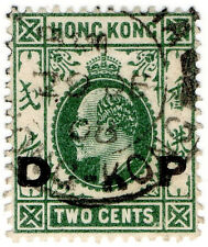 (I.B) Hong Kong Postal : 2c Green (Daily Post OP)