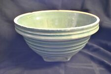 McCoy Green Mixing Bowl Marked with Shield and 9 Vintage Pottery