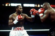 Lennox Lewis Mike Tyson Fight Action Boxing  10x8 Photo