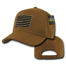 Brown United States America Flag USA American Tactical Operator Cotton Cap Hat