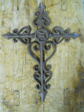 Cast Iron Victorian Style RELIGIOUS CROSS  Rustic Ranch Western Country Decor #1