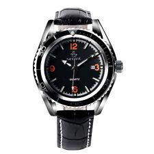Reloj Pulsera Orkina Aviador Fecha Día Ejército Correa De Cuero de Cuarzo para hombres y mujeres de negocios