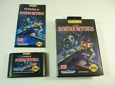 STRIDER RETURNS 2 II JOURNEY FROM DARKNESS - Sega Genesis - COMPLETE Game TESTED