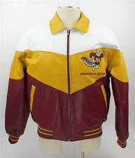 Vtg MINNESOTA GOLDEN GOPHERS Insulated Full Zip Leather Jacket M FOOTBALL