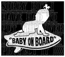 Baby on board girl VANS Surfboard surfer surfing sticker vinyl sign white colour