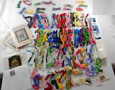 Large Lot 100 + DMC Skeins Embroidery Cross Stitch Floss Mixed Colors and More