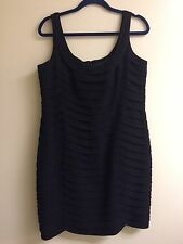 Anne Klein Black Sleeveless Dress 50610 Size 16