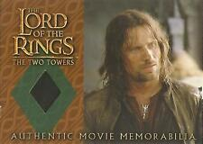 "Lord of the Rings Two Towers: ""Aragorn's Travel Coat"" Memorabilia Costume Card"