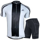 Men Cycling Jersey Bicycle Clothing Short Sleeve Gel Padded Shorts Bike Wear Set