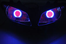 Projector Headlight Blue Angel Eyes Red Devil Eye For YAMAHA YZF 1000 R1 2002-03