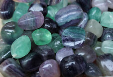 RAINBOW FLUORITE TUMBLED STONE (1) MEDIUM/LARGE NATURAL TUMBLE STONE
