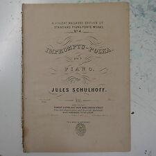 antique salon piano IMPROMPTU POLKA jules schulhoff , 9pp