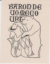 EX-LIBRIS Maxime de CREVOISIER de VOMÉCOURT (1863-1914) par Edmond Des Robert.