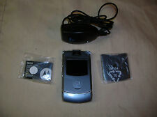 V3 RAZR Flip Phone GRAY AT&T NEW No SIM card