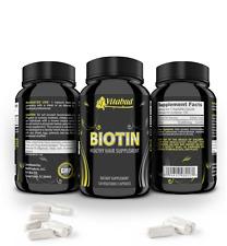 Biotin Hair Vitamins loss growth 10000mcg grow faster healthy skin brittle nails