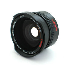 Wide Angle .42X Fisheye Lens for Sony Handycam DCR-SR68,HCR-CX100,CX110,CX150,US
