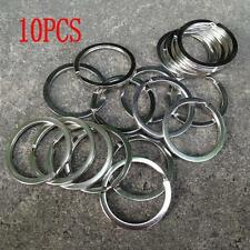 10PCS Clasps Pocket Keychain Chain Loop Split Key Ring Stainless Steel